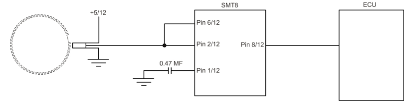 SMT8 Piggy-Back Unit - Wiring for operation above 6000 RPM