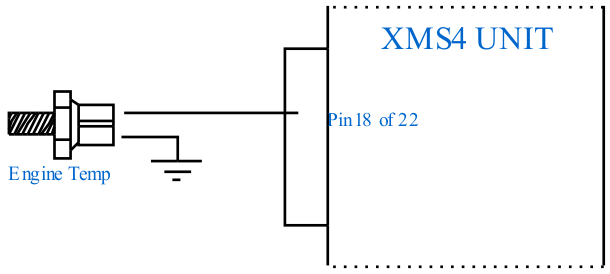 XMS4 Stand Alone Unit - Engine Temperature Sensor Connection