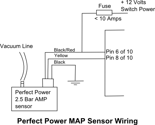 TF10 Turbo Fueller - Perfect Power MAP Sensor Wiring